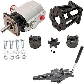 "ToolTuff Log Splitter Build Kit: 13 GPM Pump, Mount, A7 Auto Return Valve, Bolts, Coupler (for 3/4"" Engine Crankshaft)"