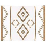 Aztec Blanket, Southwestern Blanket, Bohemian Blanket (Tan)
