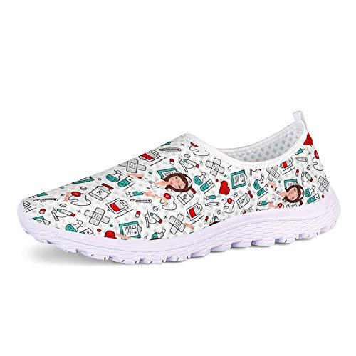 UOIMAG, Zapatillas Informales para Mujer, Bonitos Zapatos de Enfermera, Zapatos Planos sin...