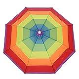 Ombrello arcobaleno, cappello da pesca, cappello da spiaggia, ombrello da pesca, berretto da pesca, cappello a forma di arcobaleno, per adulti, bambini, donne e uomini