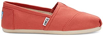 Toms Womens Alpargata Canvas Espadrille, Size: 10 B(M) US, Color: Coral