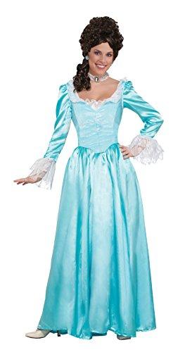 Forum Novelties Colonial Lady Corset-Style Dress, Blue, L