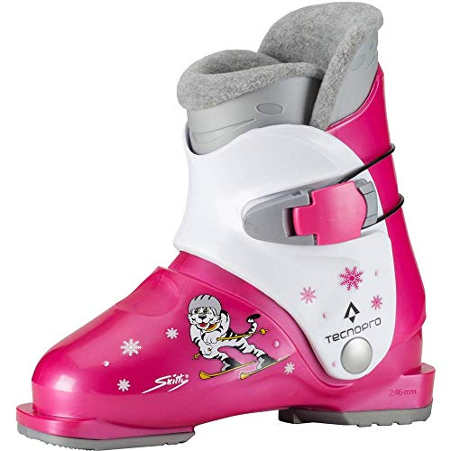 TECNOPRO Kinder Skitty Skistiefel, pink/Weiß, 18.5