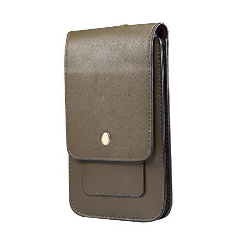 Teléfono Celular Bolsos de Cintura para Hombres, Riñonera de Cuero para Celular, 6.9' Hombre Bolsa con Clip de Cinturón Cuero Bolsa de Cintura Bolso de Cintura Móvil para Cinturón para Deportes Viaje