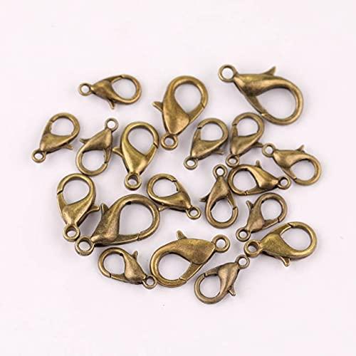 LINSO 100/60/50 Uds Ganchos de Cierre de Langosta de Metal para Encontrar joyería KC Gold Silver Gun Color Negro Hebilla de conexión