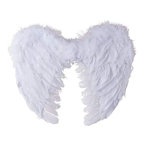 Ailes d'Ange en plumes blanches 40cm by PtitC