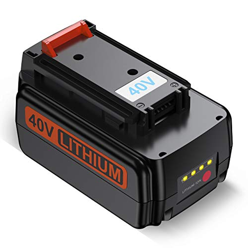 Upgraded Powerextra 3000mah 40 Volt MAX Replacement Battery Compatible with Black&Decker LBX2040 LBX36 LBXR36 LBXR2036 40V Lithium Ion Battery