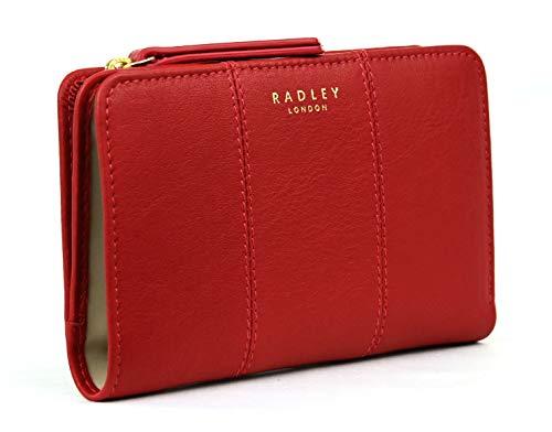 "Radley /""PLANE SPOTTING/"" Bifold Borsa Portafogli Pelle Nera Nuovo Medium"