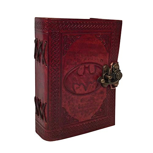 HVC Leather Journal Celtic Book Batman Sign Embossed Handmade Notebook Diary Antique Appointment Organizer Daily Planner Office Diary College Sketchbook Handbook 6 x 4.5 inches for Gift