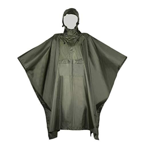Garneck Hooded Regen Ponchos Waterdichte Anti-speeksel Splash Noodregenjassen Draagbare Regenjas voor Outdoors Camping Home (Blauw), 145 x 0.03 x 224cm, Leger Groen