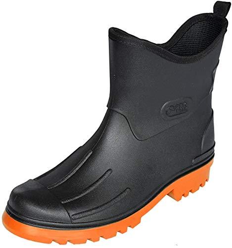 Homme Bottes de pluie Peter de Sécher Marche, noir/orange, 42 EU