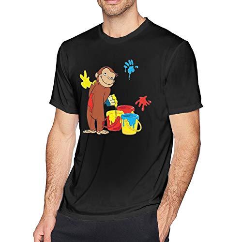 Fomente Curious George Herren Komfortabel T-Shirt Black 3XL