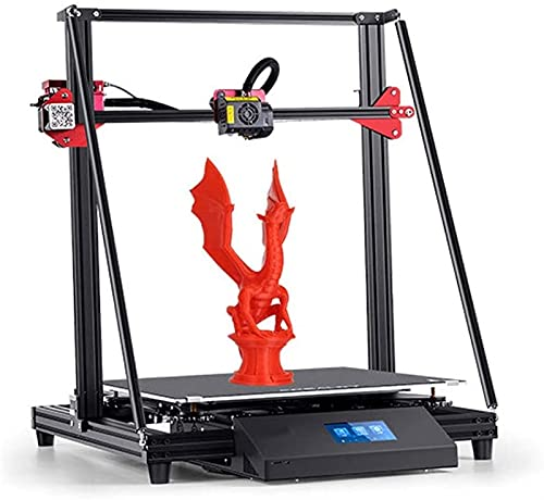 RSBCSHI 3D Printer, With Dual Extruder Sturdy/Power Supply Resume Printing/Frame/Touch Screen/Automatic Leveling, Large Print Size,Black