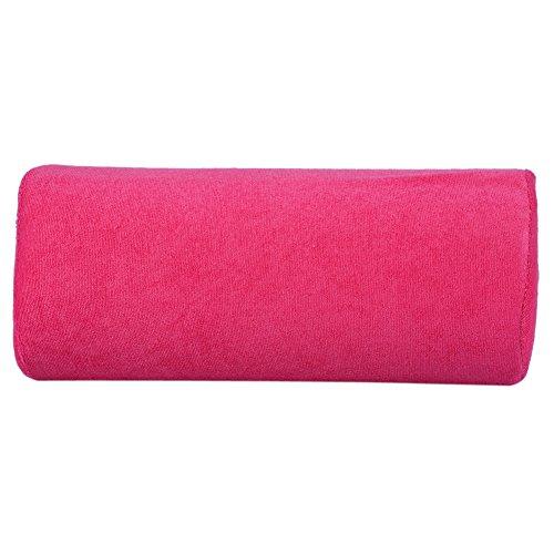 Coussin d'art d'ongle, costume d'oreiller de coussin de repos de main d'oreiller de manucure pour le salon d'ongle et l'usage à la maison, 30 * 13 cm(Rose)