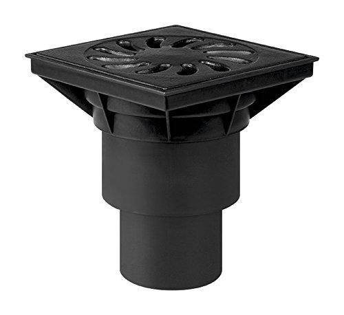 alta calidad vertical de salida piso práctica BARRANCO with The tubo 110 y 160mm de diámetro para la seducción de agua externa, polipropileno con resistencia a la radiación UV equipada con un olor de estanqueidad válvula seco, fundición masiva modelo...