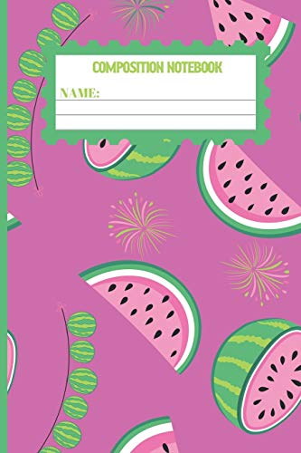 Composition Notebook: Watermelon gifts: cute & elegant Hopbush colored design college ruled lined paper to write in.