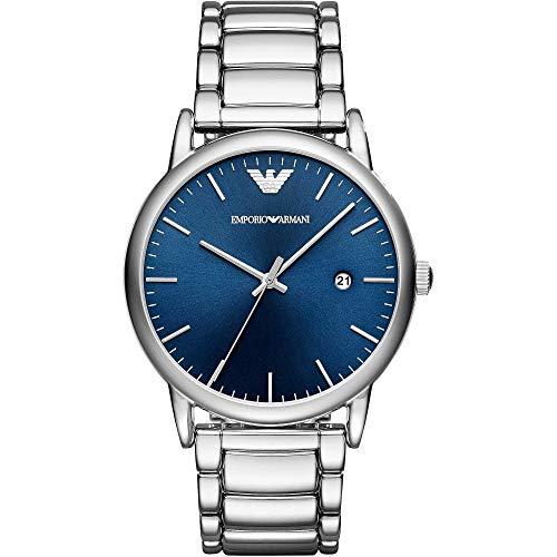Emporio Armani Herren Analog Quarz Uhr mit Edelstahl Armband AR11089
