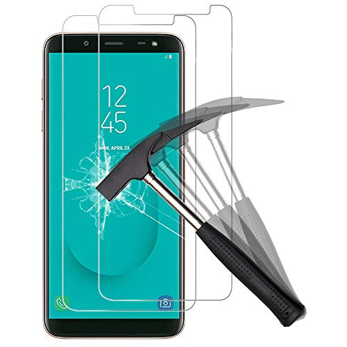 ANEWSIR Schutzfolie Kompatibel mit Samsung Galaxy J6 2018 2 Stuck 56 Zoll HD Clear Anti Blaschen Anti Kratzen Displayschutzfolie Folie