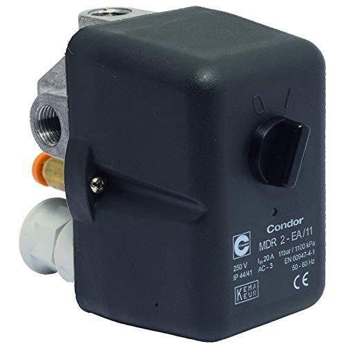 Druckschalter CONDOR MDR 2/11 bar, 230 Volt, inkl. Druckentlastungsventil AEV 2 S
