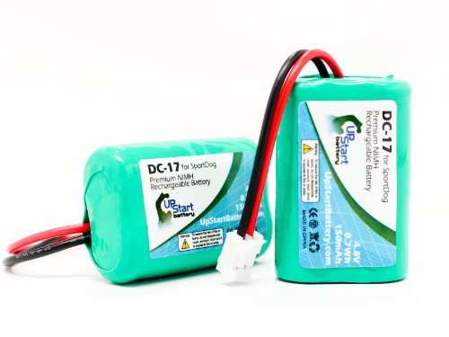 2x Pack - SportDog DC-17 Dog Training Collar Battery Replacement (150mAh, 4.8V, NI-MH) - Compatible with SportDog 650-058, Field Trainer 400 Receiver, Field Trainer 400s Receiver, Field Trainer SD-400 Receiver, Field Trainer SD-400S Receiver, FR200, Kinetic MH120AAAL4GC, SDT00-11907, Sporthunter SD-800 Receiver, Wetland Hunter SD-400 Camo Receiver, Wetland Hunter SD-800 Camo Receiver, 400 Receiver, 400s Receiver, SD-400 Receiver, SD-400S Receiver, SD-800 Receiver, SD-400 Camo Receiver, SD-800 Camo Receiver, DC-17