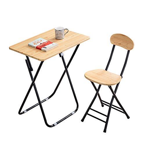 GCDW Table Pliante Simple, Tables De Pique-Nique Portatives Intérieures Et Extérieures, Petite Table Pliante en Structure Triangulaire en Métal (Blanc, Noir), Ensemble Table Et Chaises Pliantes