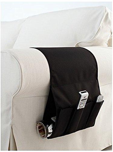 Ikea Flort - Organizador con bolsillos para mandos a distancia para colocar en reposabrazos, color negro
