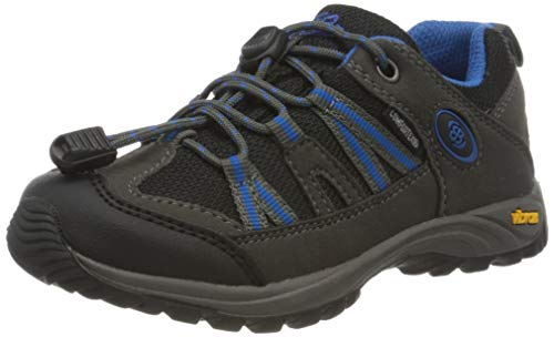 Bruetting Ohio Low, Chaussures de Randonnée Basses, Gris Gris Noir Bleu Gris Noir Bleu, 30 EU