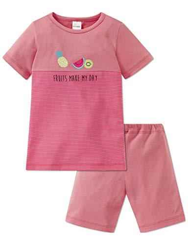 Schiesser Mädchen Md Anzug kurz Zweiteiliger Schlafanzug, Gelb (Apricot 603), (Herstellergröße: 104)