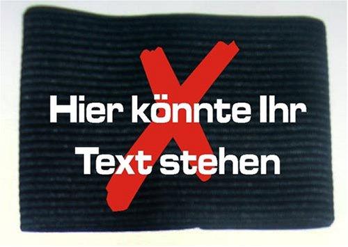 Armbinde bedruckt mit IHREM TEXT/schwarz / 3304