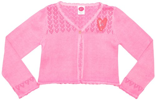 Cakewalk CK04 Girl'Strickjacke, Gr. 110, Rosa - Pink Neon