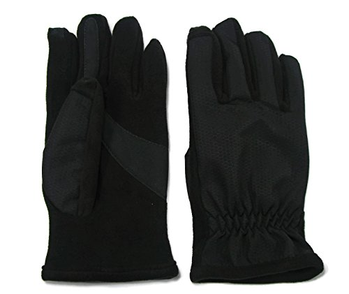 Isotoner Men's Matrix Smartouch Technology Glove Black (X Small)