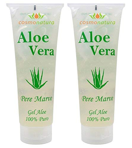 IB Cosmetics 40140 - Gel aloe vera 100%, 250 ml x 2 unidades