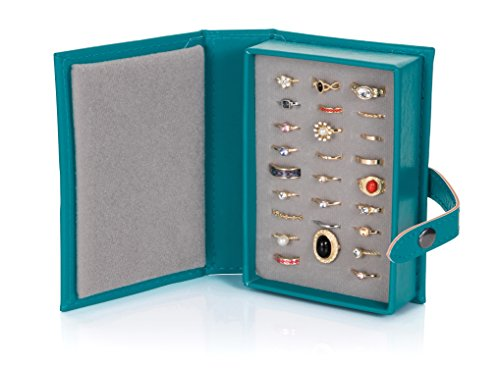 Little Little Book Of Rings Storage - Small Teal