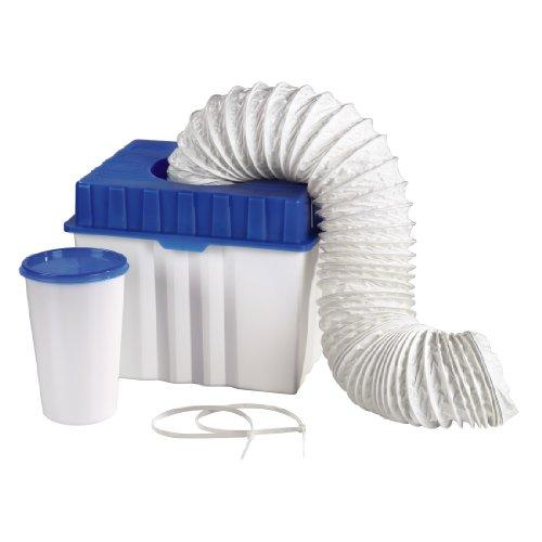 Xavax 111341 - Caja de condensados para secadora con salida de aire, color azul/blanco