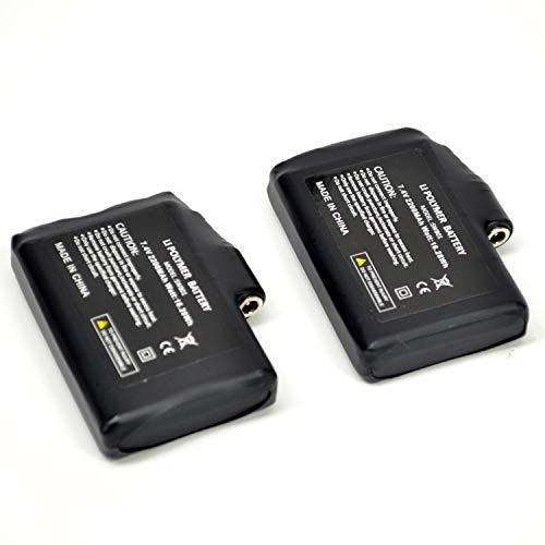 SNOW DEER 7.4V 2200MAH Rechargable Li-ion Batteries for Heated Gloves Socks Hats (2pcs Battary only,not Include Charger)