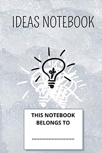 IDEAS NOTEBOOK: Idea Collective Professional Notebook 9x6 inches Gray 100 pages