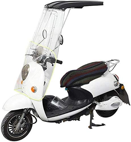 LOJALS Cubierta Universal De La Sombrilla De La Motocicleta Eléctrica, Cubierta De Lluvia Impermeable De La Scooter, Toldo Transparente del Paraguas del Sol del Toldo De La Motocicleta,Natural