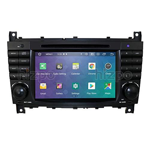 Ossuret Android 10 Autoradio-Radio GPS-Navigation mit 7-Zoll-Touchscreen Passend für Mercedes Benz C-Klasse W203 2004-2007 CLC W203 2008-2010 CLK-Klasse W209 2005-2011