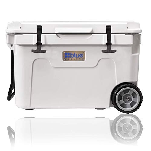 Blue Coolers Ice Value with Wheels