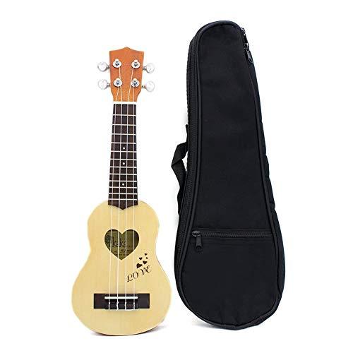 -Ukulele Mini Ukelele Fichte/Sapele Top Palisander Griffbrett Saiteninstrument 4 Strings mit Gig Bag Anfänger und Fortgeschrittene Ukulelen (Color : 1)