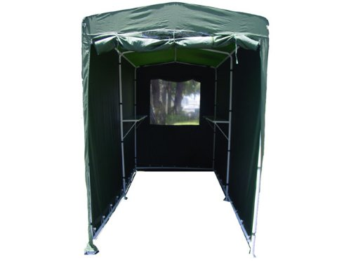 Storage Tent Garden Shed image from the front, open
