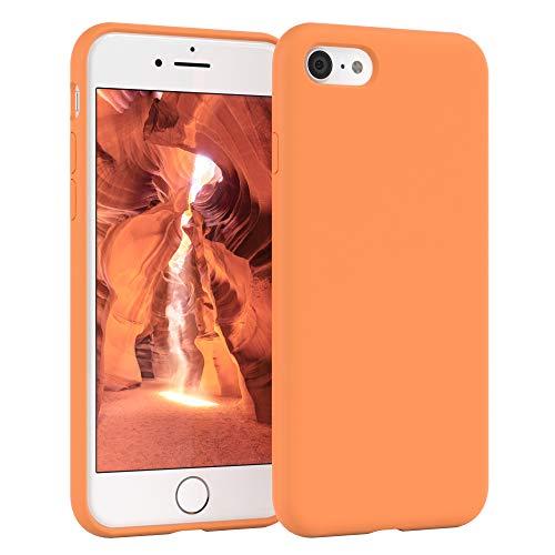 EAZY CASE Premium Silikon Handyhülle kompatibel mit iPhone 7/8 / SE (2020), Slimcover mit Kameraschutz & Innenfutter, Silikonhülle, Schutzhülle, Bumper, Handy Hülle, Hülle, Softcase, Orange