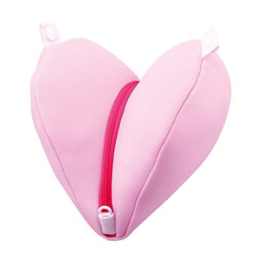ダイヤ ランドリーネット ピンク 横約20×縦約20×厚3cm サボるん ブラネットハート 057940