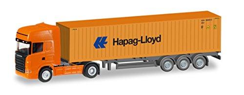 Herpa 066594 - Fahrzeug, Scania R TL Container-Sattelzug Hapag Lloyd