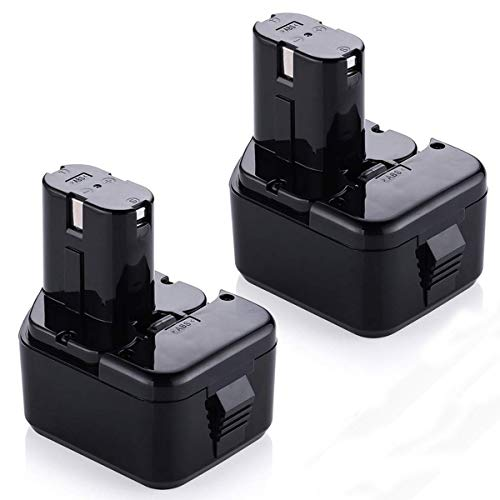 Powerextra 2 Pack 12 Volt 3.0Ah Replacement Battery for Hitachi EB1214S EB1212S EB1214L Eb1220bl Eb1220hl Eb1220hs Eb1220rs Eb1222hl Eb1226hl Eb1230hl