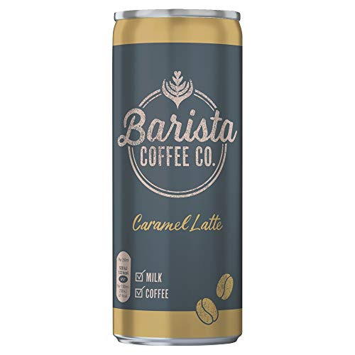 Barista Coffee Co. Caramel Latte Iced Coffee Drink Tin Can 250ml (Pack of 12)