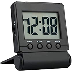 commercial FAMICOZY Compact digital travel alarm clock. With loud / quiet options, easy to set up, … small travel clock