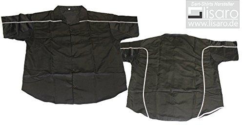 Lisaro Dart Camisa/Camiseta de Dardos/Negro De Blanco Escoba