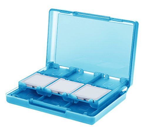 AmazonBasics Nintendo 3DS Game Card Storage Case Holder with 24 Cartridge Slots - 3 x 5 x 1 Inches, Blue