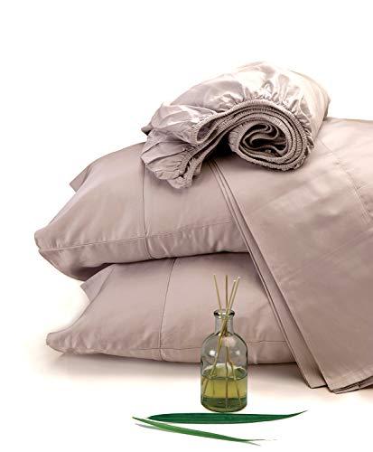 100% Organic Cotton King Rose Sheet Set, Sateen Weave, 4 Piece ,300 Thread Count,GOTS Certified,Soft Silky Shiny, Luxury Finish,Fits Upto 17' Deep Pocket Mattress,Fair Trade Certified